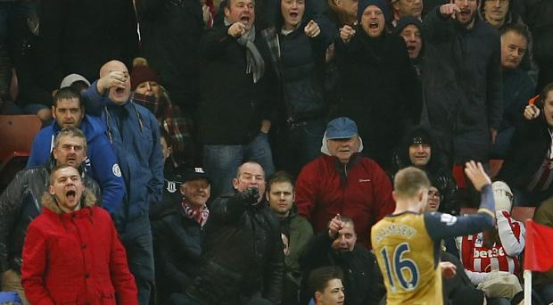 Aaron Ramsey was the subject of constant abuse from parts of the Britannia stadium