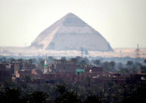 The 4,500-year-old Bent Pyramid is seen in Dahshour near Cairo, Egypt Photo: AP Photo/Amr Nabil, File