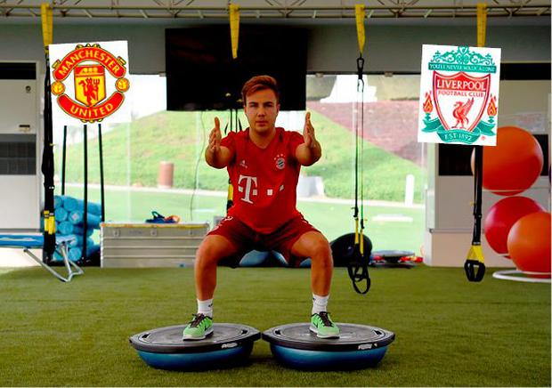 Manchester United and Liverpool are chasing Mario Gotze