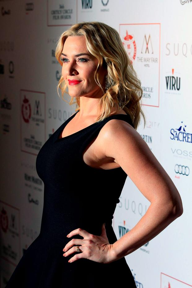 Kate Winslet attending the London Critics' Circle Film Awards at the May Fair Hotel, Central London. PRESS ASSOCIATION Photo. Picture date: Sunday 17th January, 2016. See PA story SHOWBIZ Critics. Photo credit should read: Jonathan Brady/PA Wire.