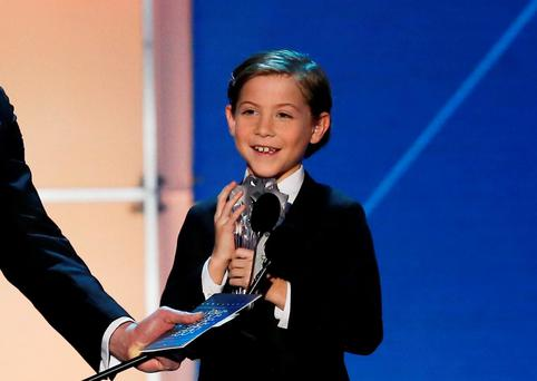 Jacob Tremblay accepts the award for Best Young Actor for