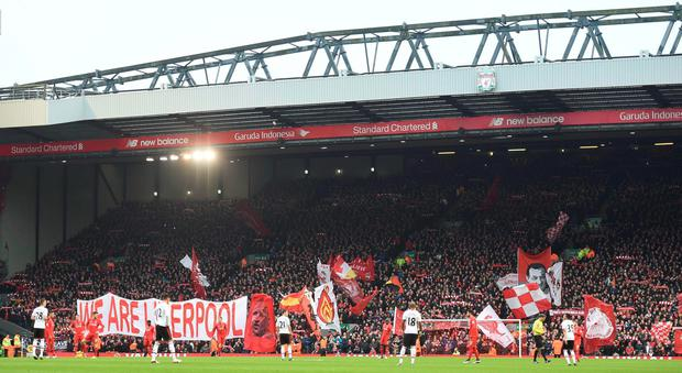 The Kop ahead of Liverpool's clash with Manchester United