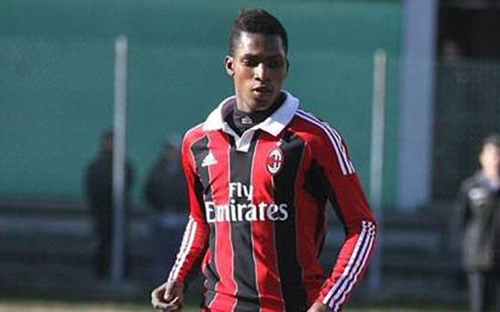 Yusupha Yaffa played for AC Milan's under-19s side Photo: Getty