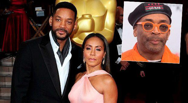 Will Smith and Jada Pinkett Smith, inset Spike Lee