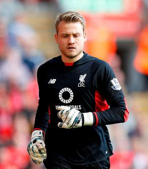 Liverpool have announced goalkeeper Simon Mignolet has signed a new 5-year contract. Photo: Peter Byrne/PA Wire.