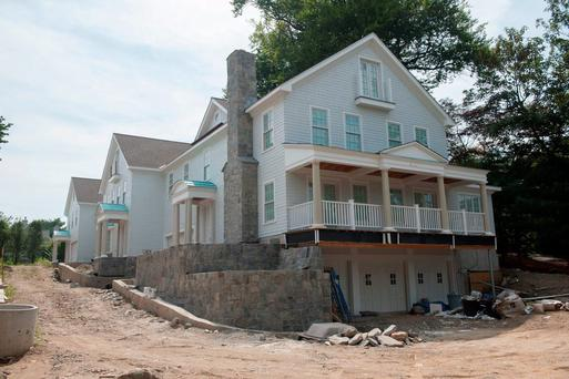 The development on Milbank Avenue in Greenwich, Connecticut in the USA which is being managed by Sean Dunne Photo: Douglas Healey for The Independent
