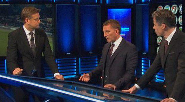 Brendan Rodgers with Jamie Carragher on Monday Night Football