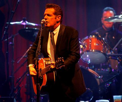 Glenn Frey of the Eagles performs at Muhammad Ali's Celebrity Fight Night XVI in Phoenix, Arizona. Photo: AP