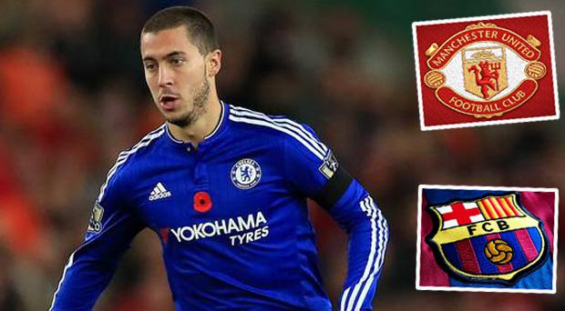 Chelsea star Eden Harard has been linked with both Barcelona and Manchester United