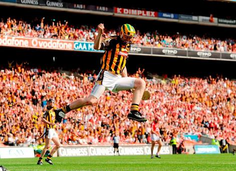 Richie Power celebrates in the 2010 All-Ireland final