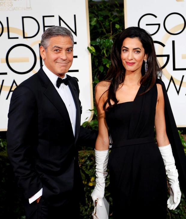 Flood alert: George and Amal Clooney