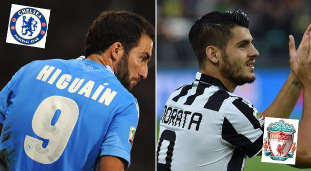 Alvaro Morata, left, and Gonzalo Higuain have been linked with Premier League moves