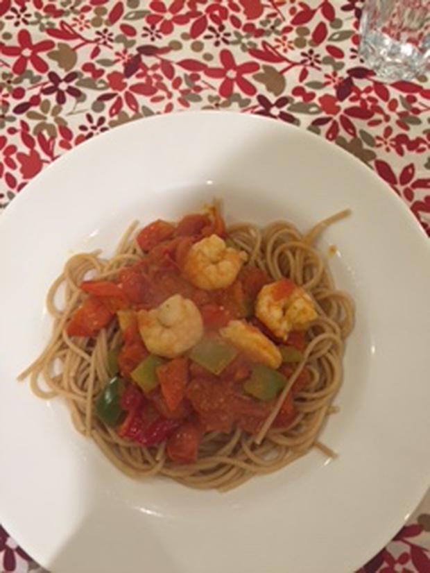 Aoife Hearne's spicy prawn and tomato pasta