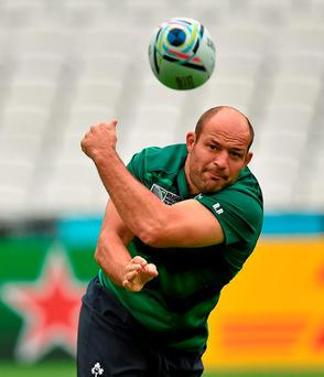 Rory Best: 'We've an unbelievably tough start against Wales in Dublin and that's all we'll be focused on'. Photo: Sportsfile