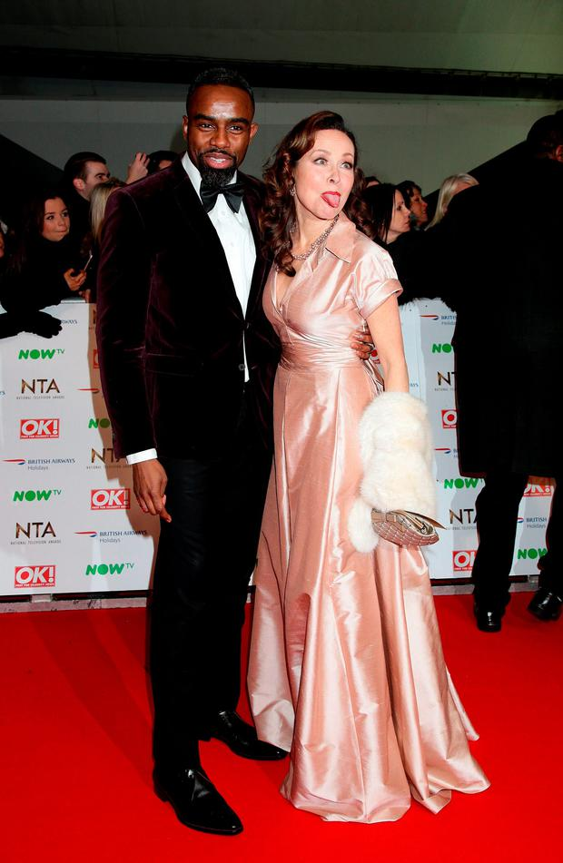 Charles Venn and Amanda Mealing arriving at the National Television Awards 2016 held at The O2 Arena in London