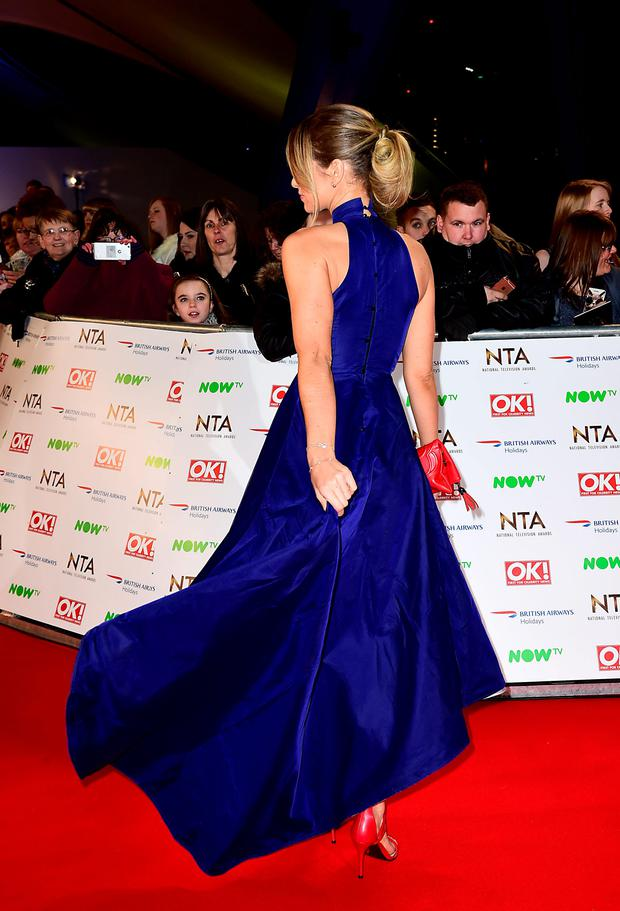 Vogue Williams arriving at the National Television Awards 2016 held at The O2 Arena in London. Photo: Ian West/PA Wire