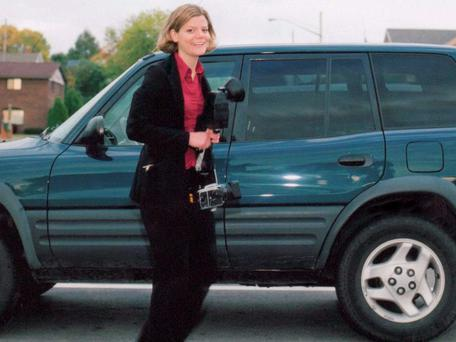 Making a Murderer: Teresa Halbach photographed beside her car.
