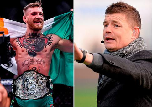 Conor McGregor and Brian O'Driscoll