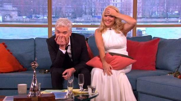 Holly and Philip struggle on This Morning