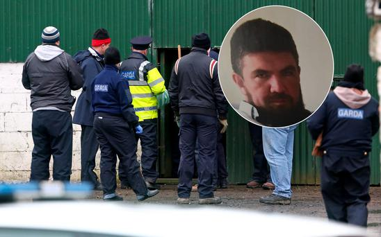 Gardai widen search in investigation of body in suitcase murder victim Kenneth O'Brien Picture Colin Keegan, Collins Dublin.