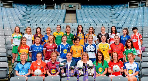 Lidl have announced a huge financial investment of €1.5million euro in Ladies Gaelic Football in year 1 of this 3 year agreement which includes a huge advertising, social and in-store branding campaign that will see Lidl mobilise their customers as part of their pledge to provide #SeriousSupport to ladies gaelic football. Brendan Moran / SPORTSFILE