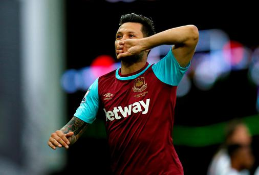 Mauro Zarate has swapped West Ham for Fiorentina