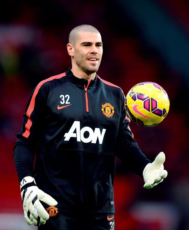 'Valdes joined United last January, but played just twice in the first team' Photo: PA Wire