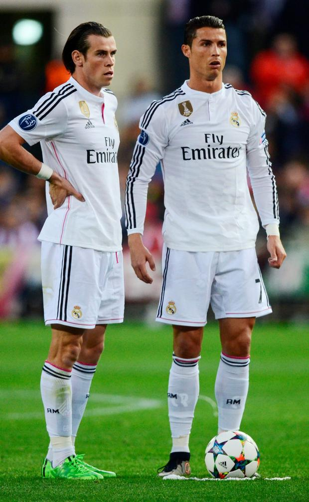 Gareth Bale and Cristiano Ronaldo Photo: Getty