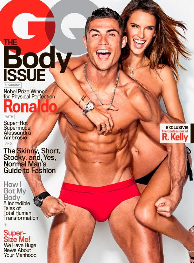Ronaldo is on the cover of this month's edition of GQ