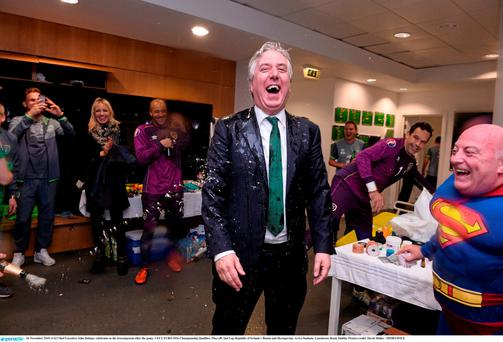 FAI Chief Executive John Delaney was used to dressing room celebrations from his playing days with St Michael's in Tipperary