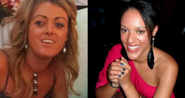 Kay Sealy (35), left, found guilty of assaulting Charlotte Akomfrah (27), right