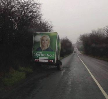 The trailer was abandoned in a dangerous position at a notorious black spot Credit:Independent.ie