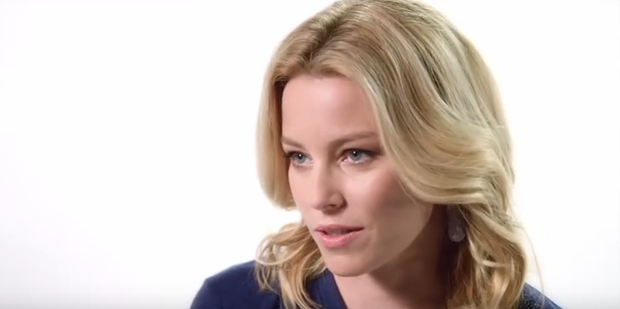 Actress Elizabeth Banks stands up for abortion rights in an online video for pro-choice Draw the Line campaign