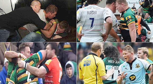 Will he ever learn? Dylan Hartley has a history of being banned