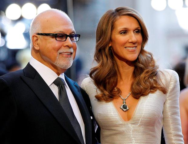 Singer Celine Dion and her husband Rene Angelil arrive at the 83rd Academy Awards at the 83rd Academy Awards in Hollywood, California, in this February 27, 2011 file photo