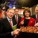 On a plate? Taoiseach Enda Kenny and Tanaiste Joan Burton. Photo: Mark Condren