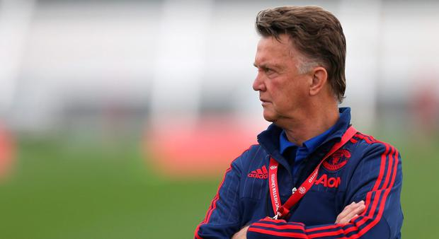 Manager Louis van Gaal of Manchester United Photo:Getty