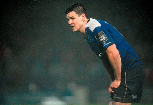 Johnny Sexton faces a wait to see if the concussion he suffered in Leinster's defeat yesterday has implications for Ireland's Six Nations campaign. Picture credit: Seb Daly / SPORTSFILE