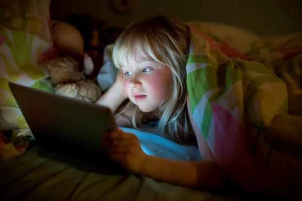On screen: parents should worry if screen dependence starts to override previous pleasures Photo: Getty Images