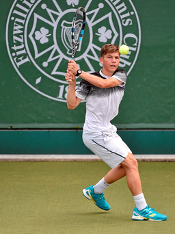 Simon Carr (16) from Mullingar is already playing in ATP tournaments Photo:Sportsfile