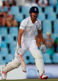 England's captain Alastair Cook reacts during the fourth cricket test match against South Africa at Centurion, South Africa Photo:Reuters