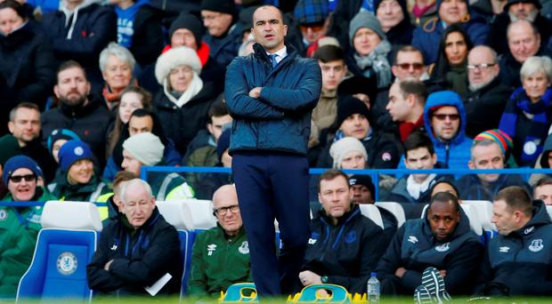 Roberto Martinez seemed to be suggesting Everton were too pure to run the clock down. Photo: Reuters