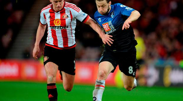 Billy Jones of Sunderland and Bournemouth's Republic of Ireland midfielder Harry Arter. Photo: Getty