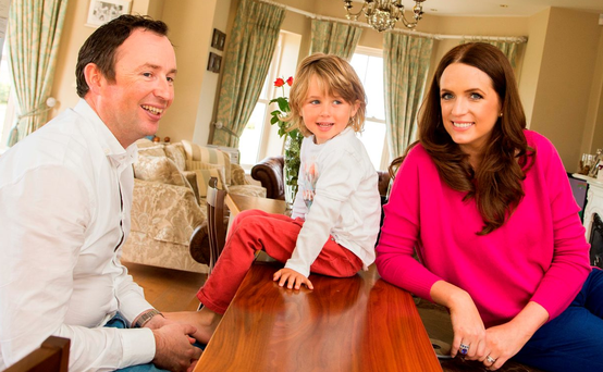 Home is where the heart is: Ramona Nicholas, with her husband Canice and son Alex at their home in Bundoran, Co Donegal Photo: James Connolly / PicSell8