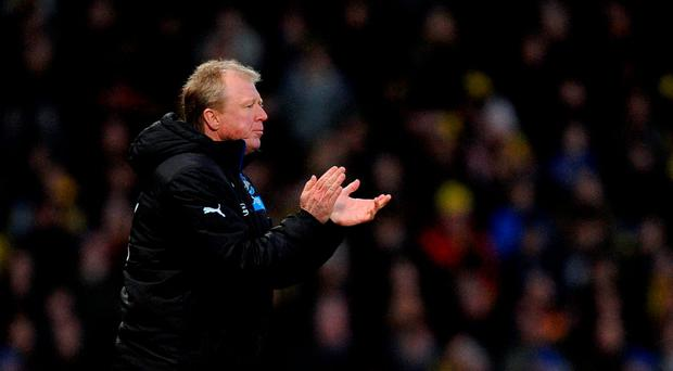 Newcastle United manager Steve McClaren: 'We just said to the players that we won't have a problem if we keep performing like that every week'. Photo: PA