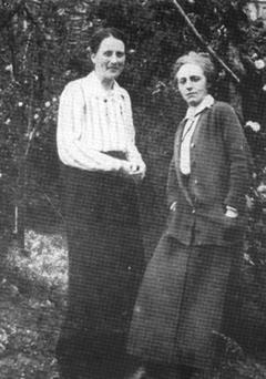 More than friends: Kathleen Lynn. left, founded St Ultan's Hospital for infants in 1919 with Madeleine ffrench-Mullen, who was considered to be her lover