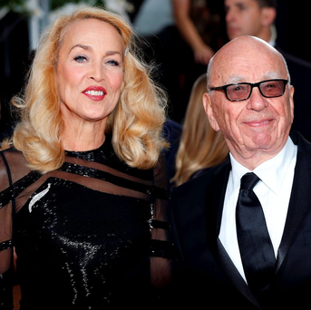 Rupert Murdoch recently announced his engagement to Jerry Hall Photo: REUTERS/Mario Anzuoni/Files