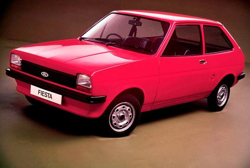 Changing face of an icon: The fiesty little Ford Fiesta has had many incarnations. Its debut in 1976 (pictured)