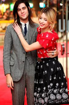 Thomas Cohen and Peaches Geldof attend the UK premiere of
