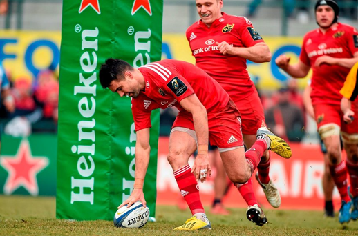 Munster's Conor Murray scores his side's third try. Picture credit: Diarmuid Greene / SPORTSFILE